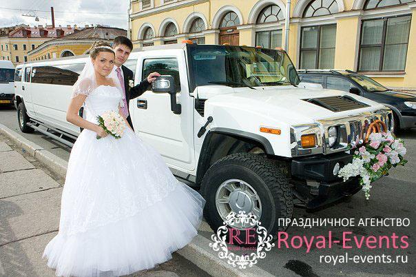 заказ лимузинов на свадьбу