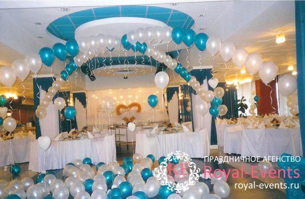 оформление зала на свадьбу недорого
