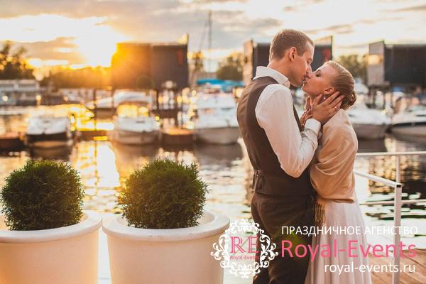 Свадьба в яхт-клубе Подмосковья