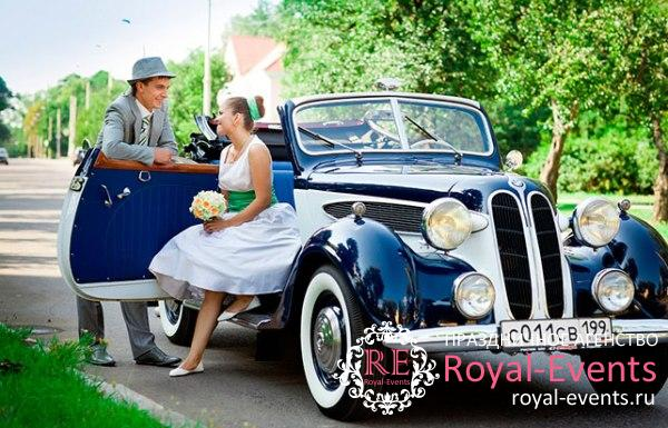 ретро автомобили на свадьбу